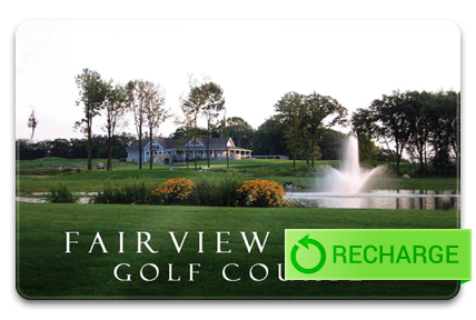 Recharge your Fairview Farm Golf Course Card